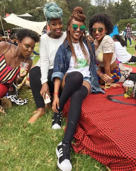 DW's Edith Kimani shows off her lanky legs in tiny Denim shorts