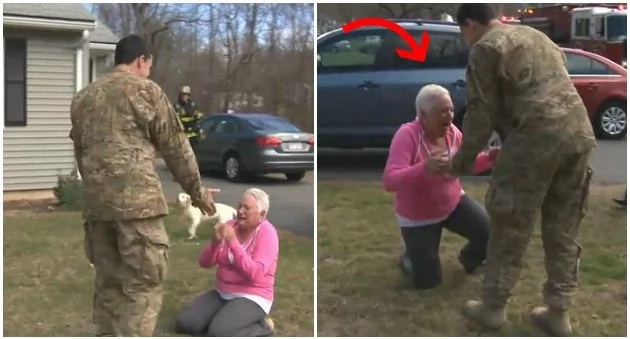 This woman couldn't believe that her son soldier was murdered that she saw again (photos, video)