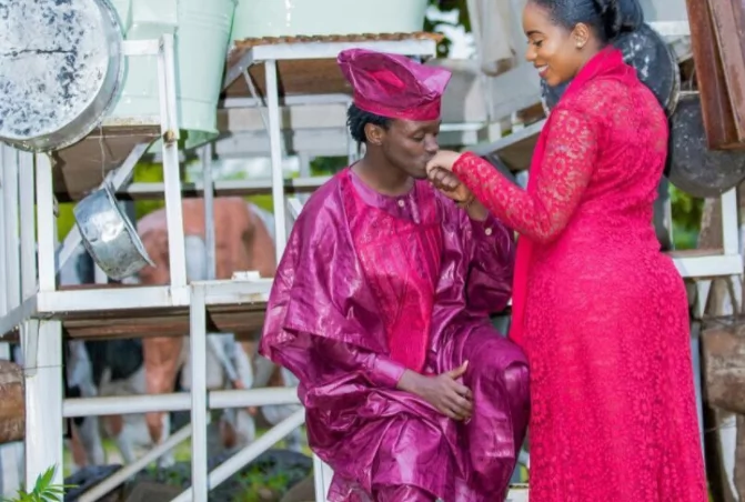 Gospel singer Bahati's wife wipes herself off social media and fans are confused