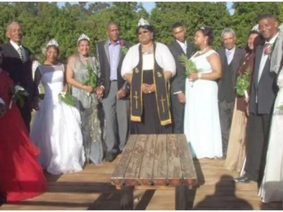 Pastor 'receives vision from God' and holds joint wedding for 6 couples 'living in sin' to save them