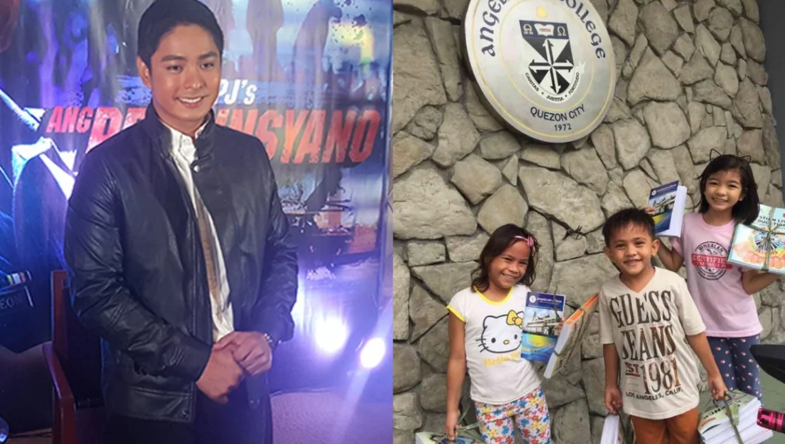 Kaya lalong pinagpapala! Coco Martin paid for his child co-stars' school fees to get back to school