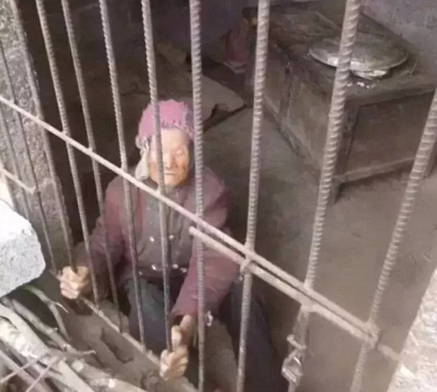 Son forces great-grandma, 92, to live in filthy pigsty for YEARS (photos)