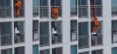 Suicidal girl is rescued by firefighter in a completely DRAMATIC manner (photos, video)