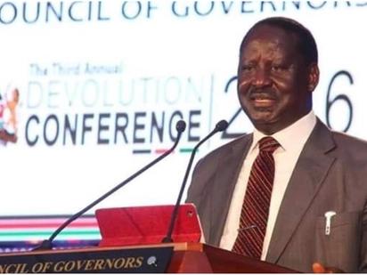 Raila takes a dig at Kirinyaga deputy governor during speech at devolution conference