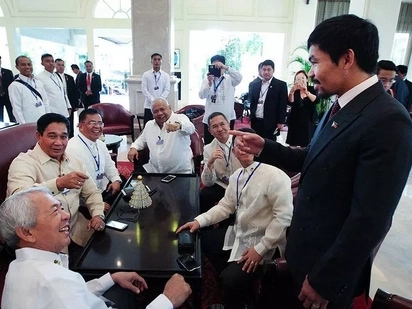Pacquiao, cabinet members 'surprised' each other in Sofitel Phnom Penh