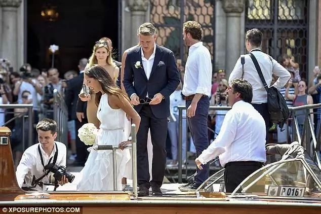 Bastian Schweinsteiger finally gets married