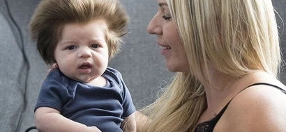 Meet the 9-week-old baby who's going viral for his full head of hair