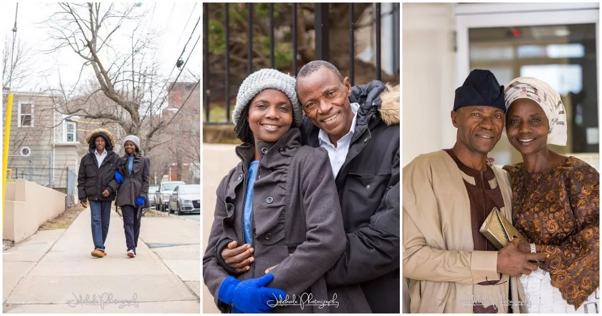 See this couple's pre-wedding photoshoot 35 years after getting married will melt your heart