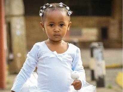 6 photos of an all grown up Dj Mo and Size 8's daughter as she celebrates 2nd birthday