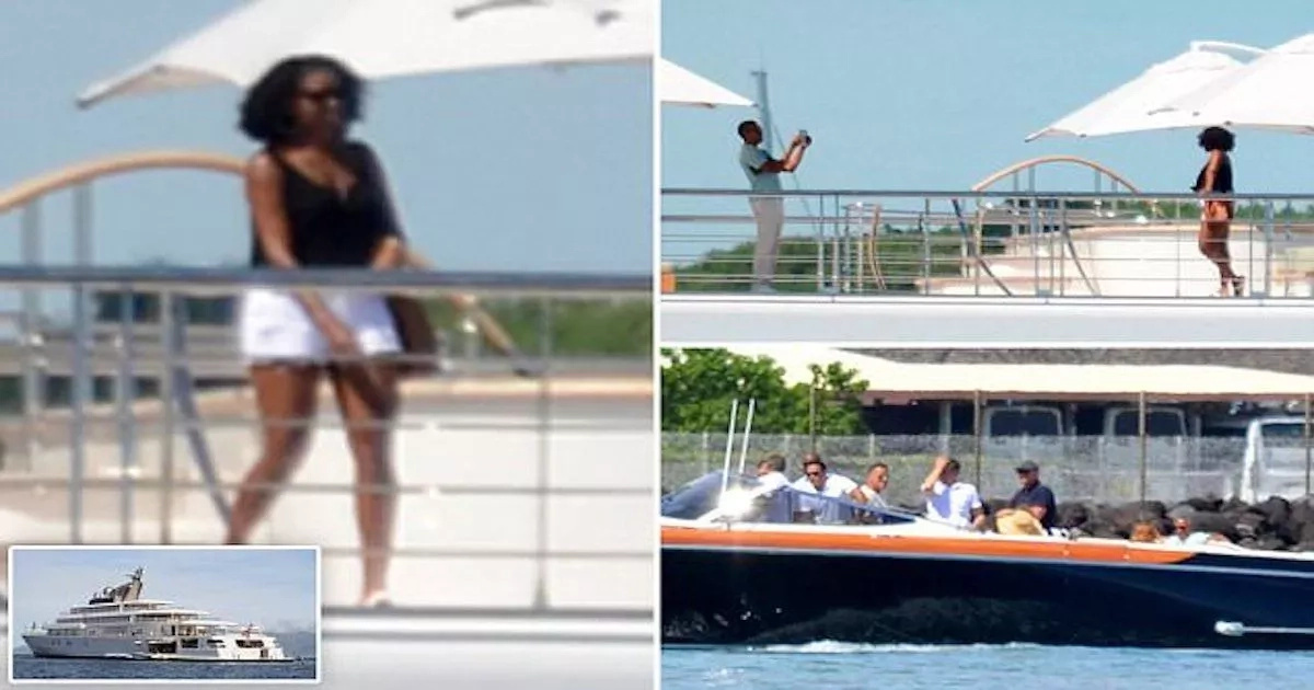 Barack and Michelle Obama on holiday with celebrities on N90b superyacht (photos)