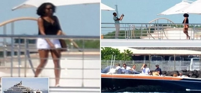 Rich photo op! Barack and Michelle Obama holiday with celebrities on Ksh30 billion superyacht (photos)