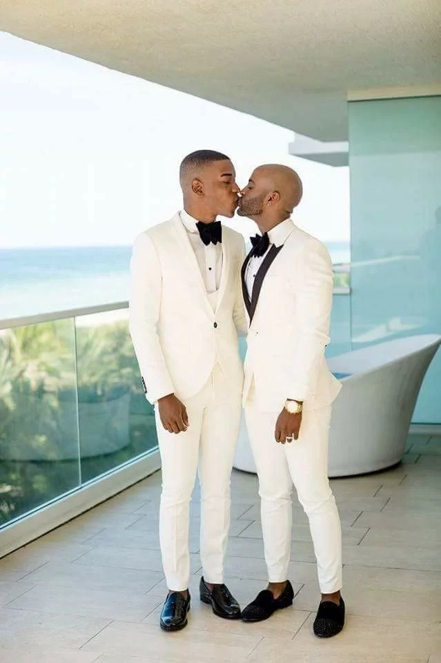 The supposedly Kenyan gay couple. Photo: Facebook/Chris Jan Chris