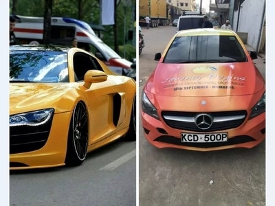 Wow! Check out the sleek cars being used by politicians during campaigns