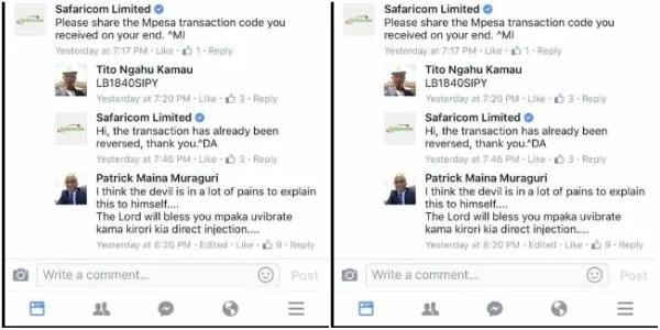 Man receives 60K on his Mpesa by mistake, what he does next has left Kenyans perplexed