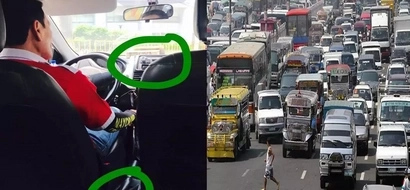 Amen para kay Kuya! Taxi driver teaches netizen the best thing to do when stuck in traffic