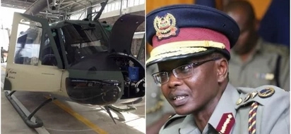 Police IG Boinnet reacts after reports that his chopper was shot at