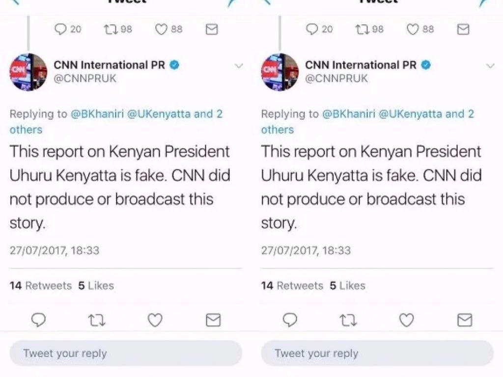 Rais Uhuru na chama cha Jubilee waaibishwa vibaya na mashirika ya utangazaji ya dunia, CNN na BBC