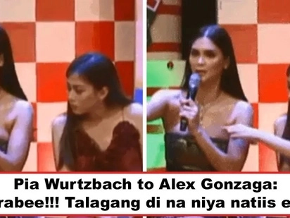 Walang silicone, totoo ang mga yan! Pia Wurtzbach's hilarious reaction after Alex Gonzaga intentionally pokes her huge 'panghinaharap' goes viral