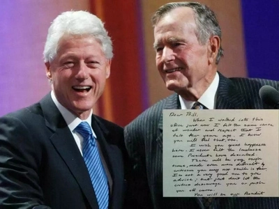 Bush 41's 1993 Letter to Clinton Goes Viral After Trump's Debate Comment