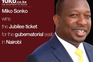 Sonko wins the golden ticket in Jubilee's Nairobi governorship race, leaves Kenneth behind