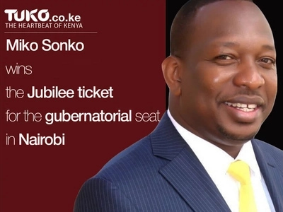 Sonko wins the ticket in Jubilee's Nairobi governorship race, leaves Kenneth behind