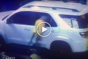 Mag-ingat sa kawatan! Dangerous Pinoy thief caught on CCTV stealing valuables from SUV at Taft Avenue