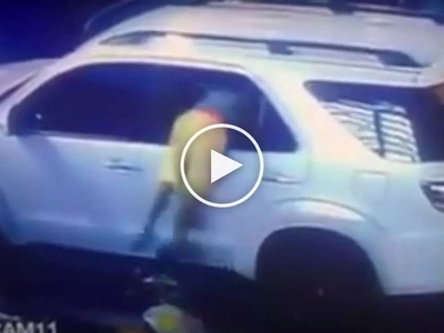 Ekspertong kawatan! Sneaky Pinoy thief caught on camera stealing valuables from SUV at Taft Avenue