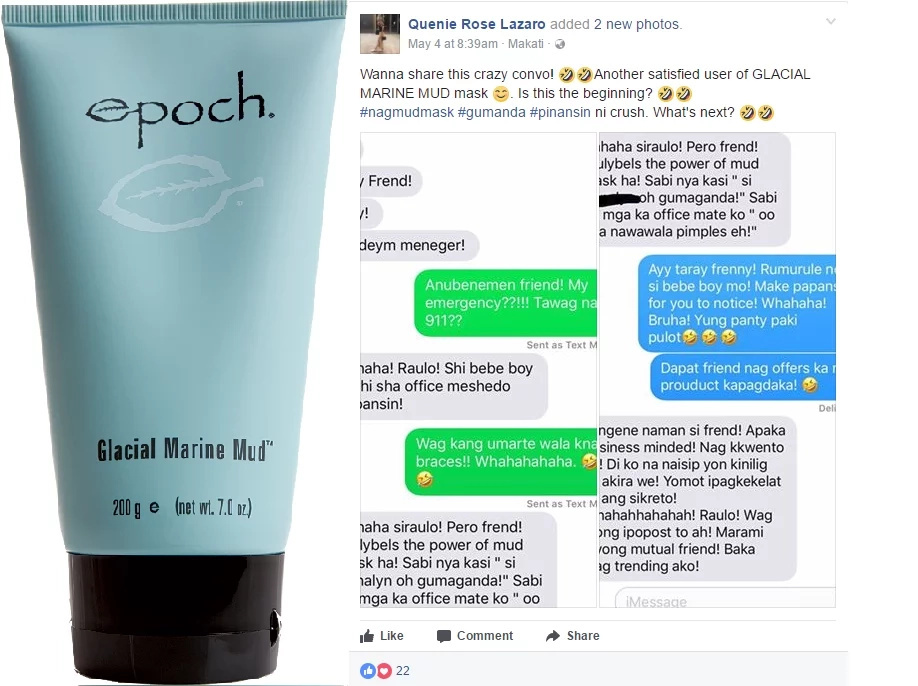 Pinay was noticed by her crush after using marine mud mask. Trending!
