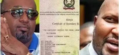 Hii hapa alama aliyioipata mbunge Moses Kuria kwenye mtihani wa KCSE