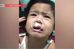 Adorable Pinay toddler bursts into tears as her father forbids her from having a boyfriend