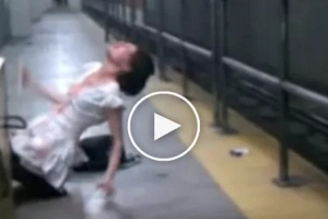 'Possessed' woman caught on video