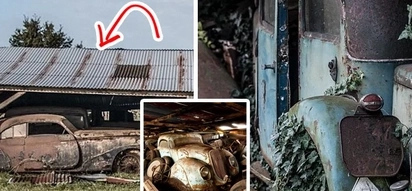 The owner of this garage died almost 10 years ago. His relatives considered it to be empty. One day they entered it and realised how rich they became