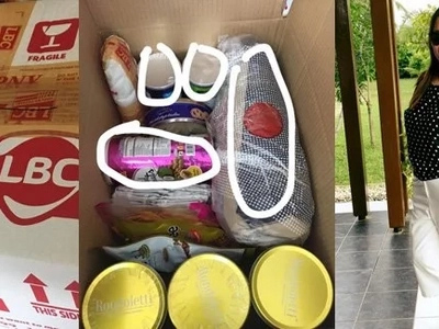 Netizen accuses LBC Robinsons-Iloilo of stealing branded goods from her package! She even accused them of stealing food!