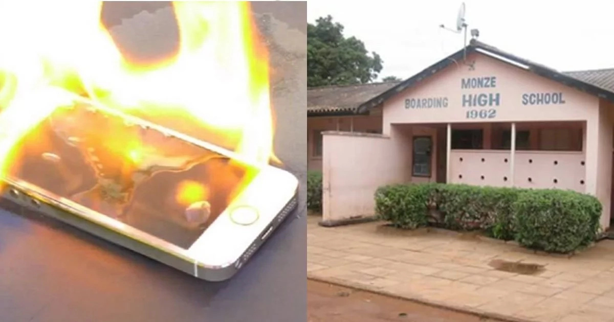 Headmaster BURNS all cellphones claiming they make girls PREGNANT