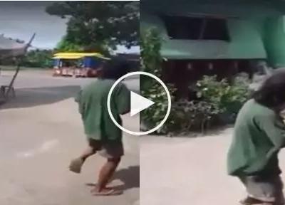#GoodVibes : Old man shows powerful 'Tatlong Bibe' moves