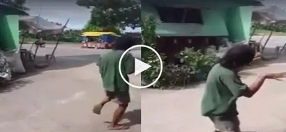 #GoodVibes : Old man shows powerful 'Tatlong Bibe' moves