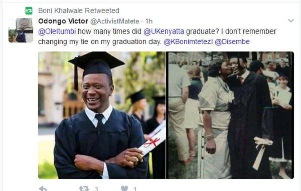 Controversy surrounds Uhuru Kenyatta's graduation photos