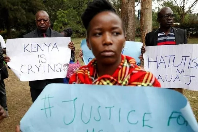 Siaya county residents go to the streets over brutal IEBC ICT manager's death