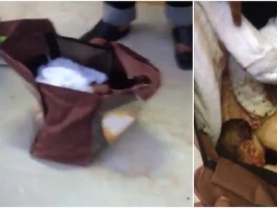 Baby dumped in a diaper bag in Mombasa hours after being delivered
