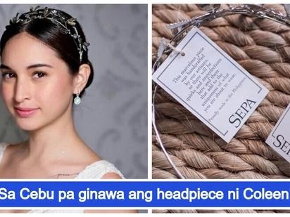 Gawang Pinoy pala! Agaw eksenang headpiece ni Coleen Garcia nagkakahalaga ng 15,000 php