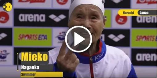 Japonesa de 101 años se prepara para los Juegos Olímpicos