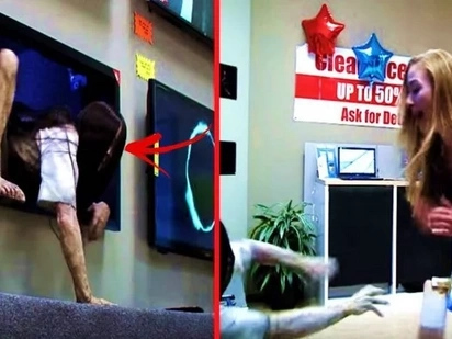Sadako comes to life in this scary prank! The unsuspecting customers screamed their lungs out & tried to escape