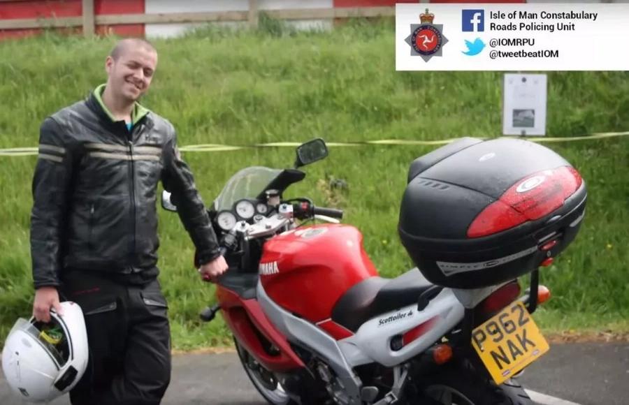 Watch motorcycle die in flames as his bike explodes in collision!