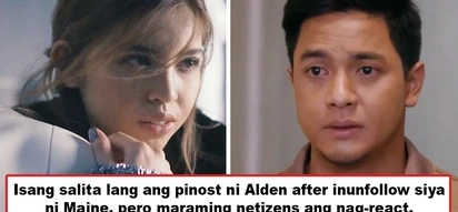 Clueless daw siya! Alden Richards posts one word on IG right after Maine Mendoza unfollowed him, and netizens don't like it