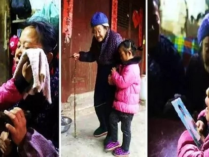 This 5-year-old girl was left alone to care for grandparents after her dad was imprisoned and her mom married another man!