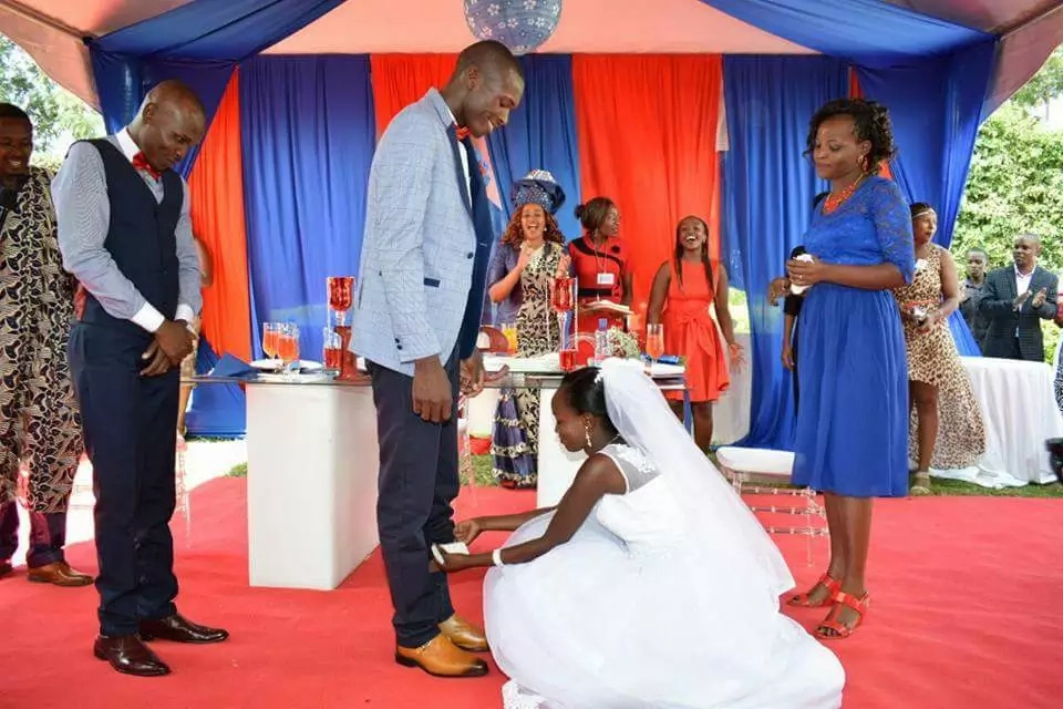 KSh 100 wedding couple breaks into TEARS during the KSh 3.5 million grand wedding
