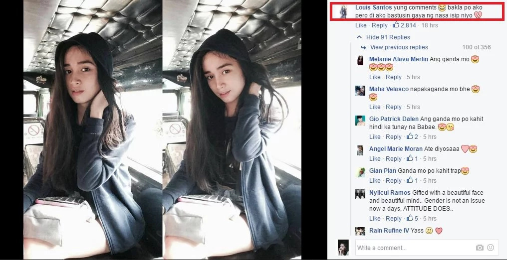 Secret behind photo of beautiful 'lady' shocks netizens