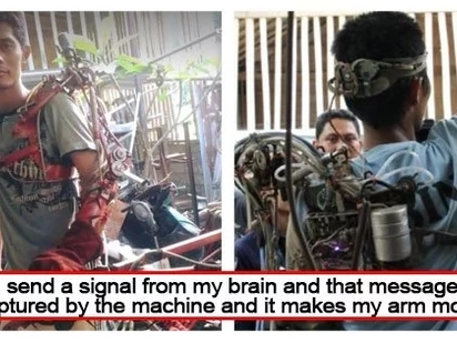 Real life iron man! Partially paralyzed man made himself a bionic arm using junk in his workshop