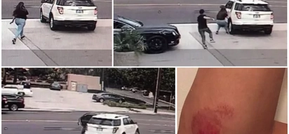 Man dangerously dragged by car as he chased woman who tricked him and took off with his iPhone