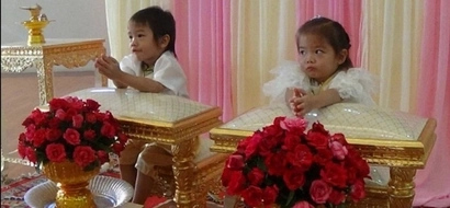 Three-year-olds are married in Thailand because parents say they are